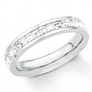 s.Oliver 2018540 Damen Ring Edelstahl Silber Weiß 52 (16.6)