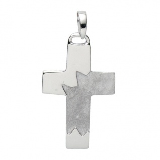 Basic Silber 27.9048S Herren Anhänger Kreuz Silber