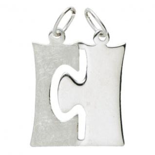 Basic Silber 29.1076S Damen Anhänger Partneranhänger Silber