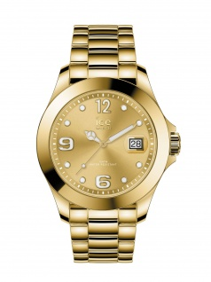 Ice-Watch 016777 ICE steel classic SR Medium Uhr Damenuhr Datum Gold