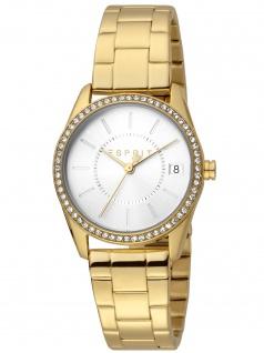 Esprit ES1L195M0085 Robinson Gold Silver Uhr Damenuhr Datum gold