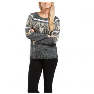 Only Damen Pullover Strick Pulli EVE L/S Pullover Knit Grau Gr. M
