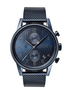 Hugo Boss 1513538 Navtr Chronograph Uhr Herrenuhr Edelstahl Datum Blau