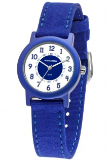 JACQUES FAREL ORG800 Ökokinderuhr Uhr Junge Kinderuhr Textil blau