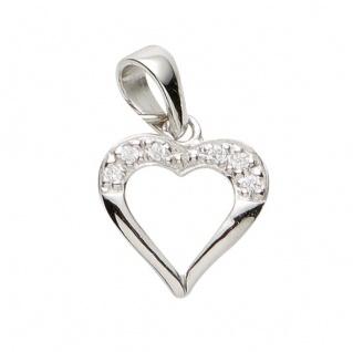 Basic Silber 21.1149S Damen Anhänger Herz Silber Zirkonia weiß