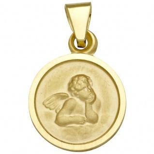 Basic Gold EN06 Kinder Anhänger Schutzengel 14 Karat (585) Gelbgold