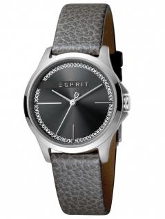 Esprit ES1L028L0025 Joy Black Uhr Damenuhr Lederarmband Grau