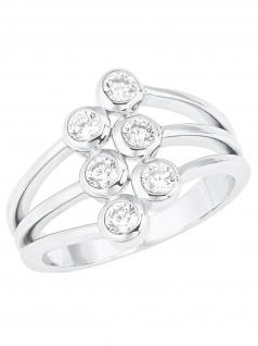 s.Oliver 2024232 Damen Ring Sterling-Silber 925 Silber Weiß 52 (16.6)