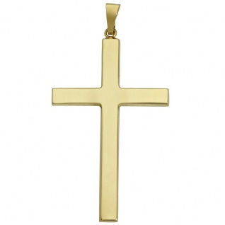 Basic Gold K11 Damen Anhänger Kreuz 14 Karat (585) Gelbgold