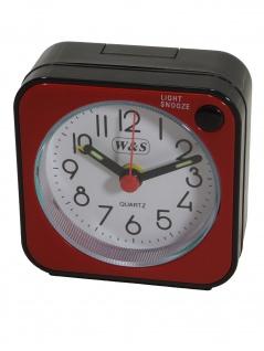 W&S 2016100-rot Wecker Uhr Alarm Weiss