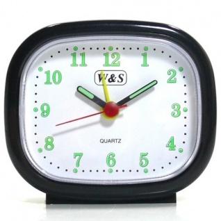 W&S 600105 Wecker Uhr schwarz-weiß Analog Licht Alarm