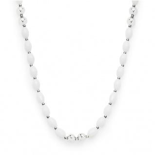 Leonardo 016179 Damen Kette Allegro Darlin's Silber Weiß 90 cm
