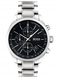Hugo Boss 1513477 GRAND Chronograph Herrenuhr Edelstahl Datum Silber