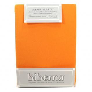 Biberna 77866-532 Jersey Elastic Spannbetttuch Safran 120x200 130x220