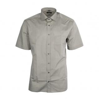 Eterna Herrenhemd Kurzarm Modern Fit Grau Freizeit Hemd Hemden XXL/45