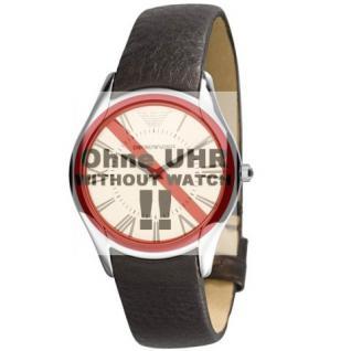 Emporio Armani Uhrband LB-AR2042 Original AR 2042 Lederband 18 mm