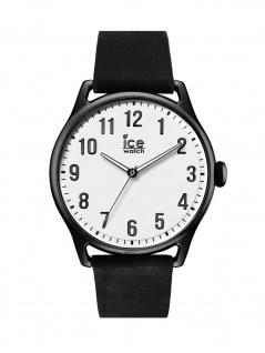 Ice-Watch 013041 Ice time Black White Large Uhr Lederarmband Schwarz