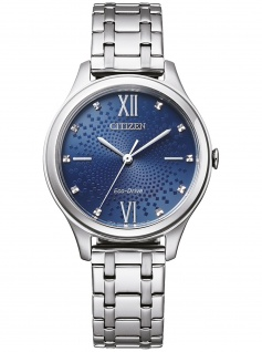 Citizen EM0500-73L Eco Drive Uhr Damenuhr Edelstahl Silber