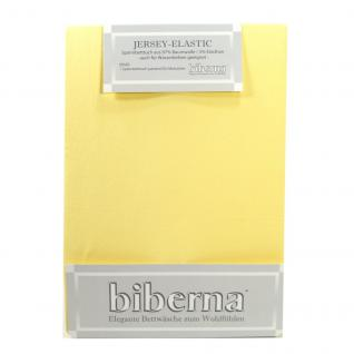 Biberna Jersey Elastic Spannbetttuch Jasmin Gelb 120 x 200 - 130 x 220