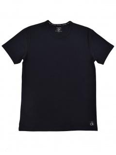 Calvin Klein Herren T-Shirt Kurzarm S/S Crew Neck Schwarz M