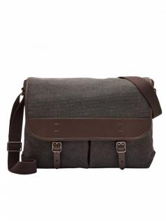 """Fossil Herren Tasche Buckner Messenger Bag Laptop MBG9355-001 Grau 16"""""""