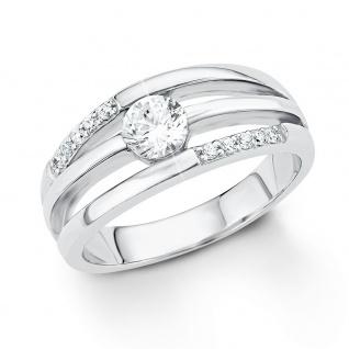 s.Oliver 9032075 Damen Ring Sterling-Silber 925 Silber Weiß
