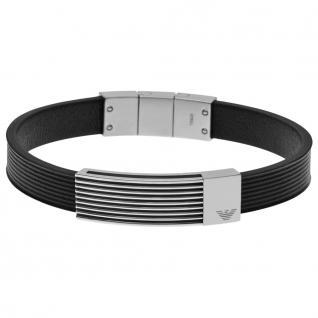 Emporio Armani EGS2072 Herren Armband Edelstahl schwarz 21 cm