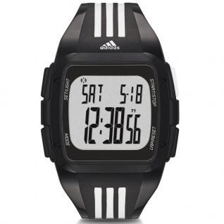 Adidas DURAMO Uhr Herrenuhr Kunststoff Digital schwarz weiss