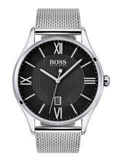 Hugo Boss 1513601 GOVNR Uhr Herrenuhr Edelstahl Datum Silber