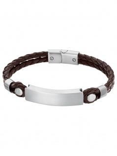 Lotus LS2103/2/1 Herren Armband Edelstahl Silber Braun 22 cm