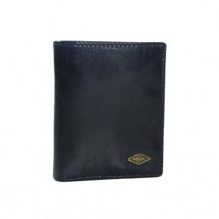 Fossil Geldbörse Ryan Coin Pocket Bifold Blau Herren Geldbeutel Leder