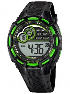 Calypso K5625/3 Chrono Uhr Herrenuhr Kunststoff Datum Alarm schwarz