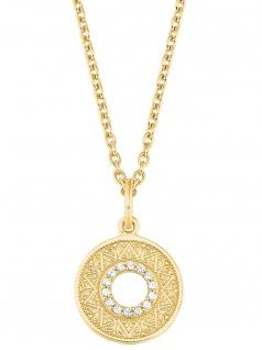 s.Oliver 2027671 Damen Collier Orientalisches Muster Gold weiß 45 cm