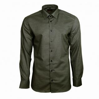 Eterna Herrenhemd Langarm Slim Fit Grau Strukturiert Hemd Gr. M/39