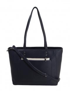 Esprit Damen Handtasche Tasche Henkeltasche Mary shopper Blau