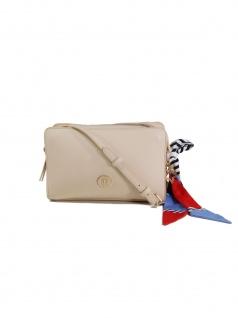 Tommy Hilfiger Damen Handtasche Tasche Charming Tommy Crossover Beige