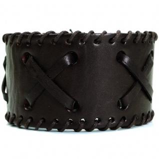 CJBB1937 Herren Armband Leder braun 21, 5 cm