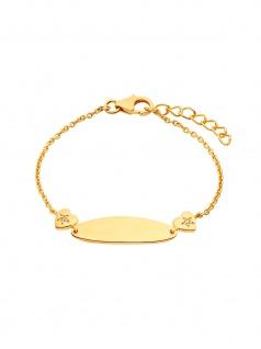 Prinzessin Lillifee 2029683 Mädchen Armband Gold Weiß 14 cm
