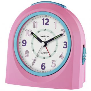 ATRIUM A921-17 Wecker Alarm Analog rosa blau