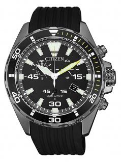 Citizen AT2437-13E Chronograph Uhr Herrenuhr Kautschuk Datum Schwarz