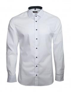 Eterna Herren Hemd Langarm Slim Fit Hemden 8585/00/F140 Weiß L/42