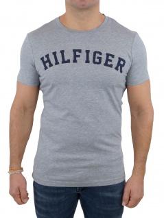 Tommy Hilfiger Herren T-Shirt Kurzarm SS Tee Logo UM0UM00054 Grau L