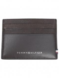 Tommy Hilfiger Herren Kreditkartenetui Textured CC Holder Leder Braun
