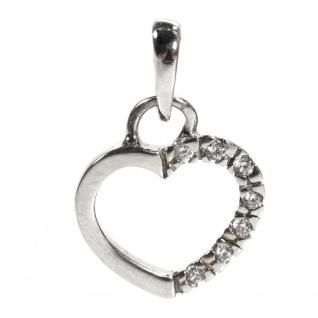 Basic Silber 21.0022S Damen Anhänger Herz Silber Zirkonia weiß