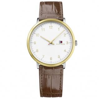Tommy Hilfiger 1791340 James Uhr Herrenuhr Lederarmband Braun