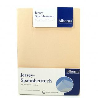 Biberna 77155-555-040 Jersey Spannbetttuch Creme 90x190 - 100x200