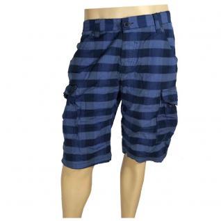 Authentic Style Herren Bermuda Hose Shorts Blau kariert Gr. 34 - Vorschau 2