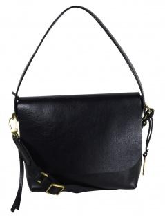 Fossil Handtasche Tasche Maya Flap Crossbody Leder Schwarz ZB7617-001