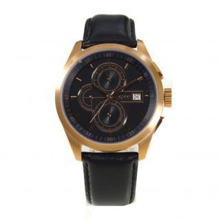 Esprit ES104091003 Chronograph Uhr Herrenuhr Leder Datum schwarz