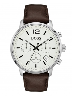 Hugo Boss 1513609 ATTTE Chronograph Uhr Herrenuhr Leder Datum Braun